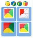 Multicolor Wooden Pixy Cubes