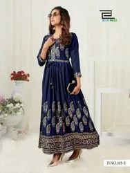 Gold Touch By Blue Hills Heavy Rayon Long Pattern Big Size Kurti For Girls Collections