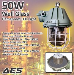 AES Aluminum LED Well Glass Flameproof Light