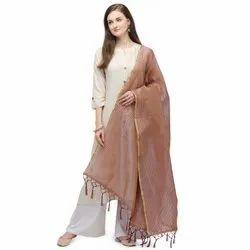 Check Pattern Silk Dupatta
