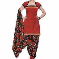 Cotton Formal Wear Ladies Printed Salwar Suit, Machine wash