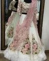 Present Georgette Lehenga With Embroidery Work