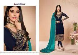 Stitched Aashirwad Cross Ladies Georgette Suit