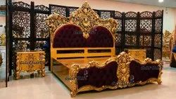 Wooden Royal Hand-Carved Bed