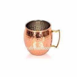 Aristocratic Hammered Copper Mule Mug