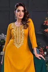 Kajal Style Fashion Galaxy Vol-3 Kurti With Bottom Pair Catalog Collection