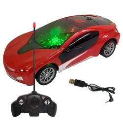 Chargeable Remote Control Racing Car, RC Car with Rechargeable Batteries and Sound & 3D Light