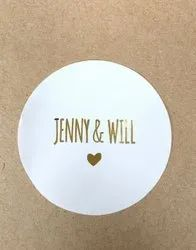 White Round Printed Stickers, For Advertising, Packaging Type: Packet