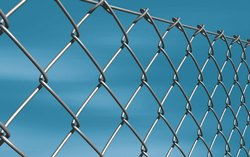 Silver Galvanized Iron Chain Link Mesh, For Fencing