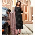 Pure Banarsi Silk Ready-Made Kurti Suit -6 Pcs
