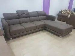 Modern Brown Designer L Shape Sofa Set, For Home, Size: 6x9 Ft