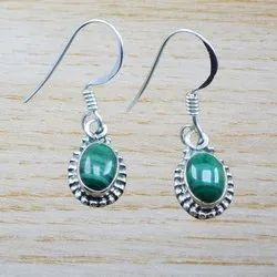 Malachite Gemstone 925 Sterling Silver Earring