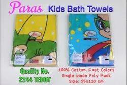 Paras Kids Printed Bath Towels -- No. 2244 Teddy