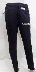 Black Plain men lycra pant