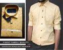 Yellow Casual Wear Men Fancy Printed Shirt