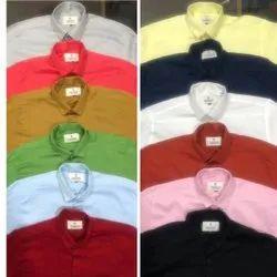 Raj Collection Cotton Twill Mens Casual Plain Shirt, Size: M To Xl