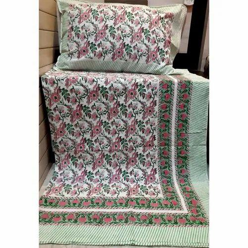 Hand Block Print Single Bedsheet