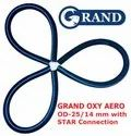 Grand Oxy Aero Tube ((od-25/14 Mm) With Star Connector (25 Mm) For Biofloc Tank Pond Aeration