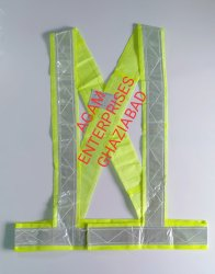 Polyster Fabric Agam Reflective Safety Cross Belt Jackets