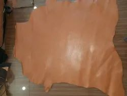 TAN Glossy Finished Leather, For Shoes