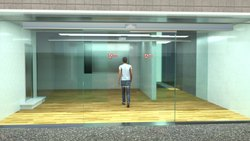 Exterior Automatic Sliding Glass Door