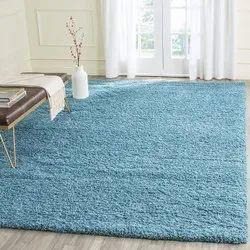 For Home Blue Bedroom Microfiber Shaggy Carpets
