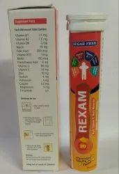 Rexam Multivitamins Multiminerals Antioxidants Effervescent Tablets