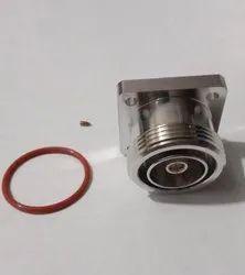 DIN F 4 Hole RG141 Solder Connector