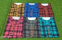 Cotton Casual Wear Kurtis, Size: 36 Waist,38 Lenght, Wash Care: Handwash