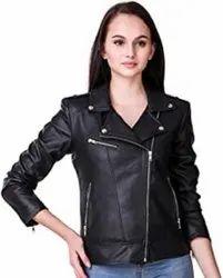 Ladies Designer Black Leather Jacket