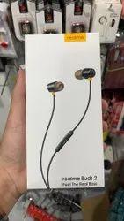 Black Wired Realme Earphone