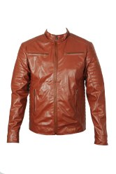 RR Sons Innovator Faux Leather Jacket - Tan Brown