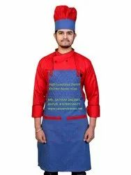 Kitchen Apron & Cap in Denim Fabric