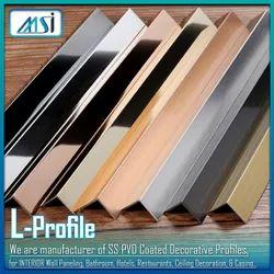 L-Profile (6x6mm) Gold, Rose Gold, Black, Silver, Champagne Antique Hairline & Antique Copper