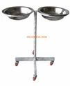 SS Double Bowl Basin Stand