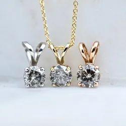 Salt And Pepper Diamond Pendant Necklace, Gray Diamond Pendant