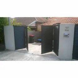 Secure Tronix Black Mild Steel Folding Gate, For Home