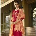 Pure Jam Silk Cotton Embroidery Unstitched Suit