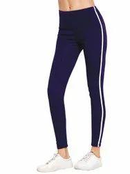 Angel Enterprise Womens Blue Yoga Pants, Size: 26 To 34 Inch