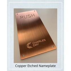 Etching On Copper Name Plates