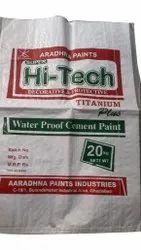 High Gloss White Hi Tech Waterproof Cement Paint, Packaging Type: PP Bag, Packaging Size: 20 Kg