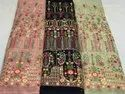 Georgette Embroidered Fancy Fabric-Color/Luknavi