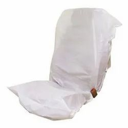 Front & Back White Non Woven Disposable Car Seat Cover