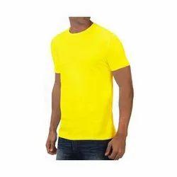 Plain Men JW Herous Round Neck T-Shirt 100-110 GSM (Lemon Green), Quantity Per Pack: 5