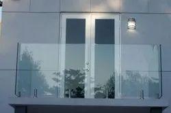 Transparent Frameless Balcony Glass Railing, For Hotel