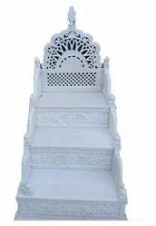 Handmade Plain White Marble Masjid Mimber