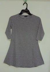 CRYSTAA 100% Cotton Women Long Top, Size: S-xl