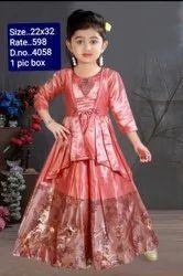 4058 Kids Party Wear Gown