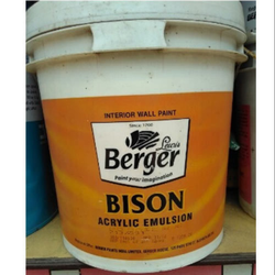 High Gloss White Berger Bison Interior Wall Paint, Packaging Size: 10 L