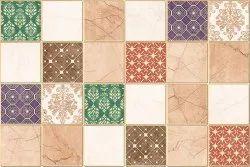 Ceramic Multicolor 250x375 Designer Bathroom Wall Tiles, 900, Thickness: 5-10 mm